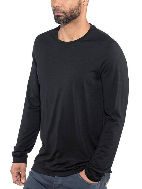 Icebreaker Tech Lite Bluzka z długim rękawem Mężczyźni czarny